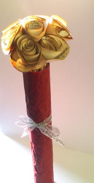 trandafiri din hartie_cu aroma de cafea
